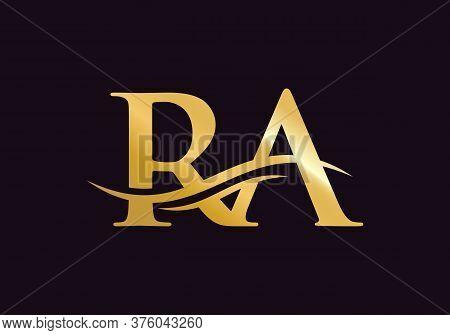 Premium Vector Ra Logo. Beautiful Logotype For Luxury Branding. Elegant And Stylish Design For Your