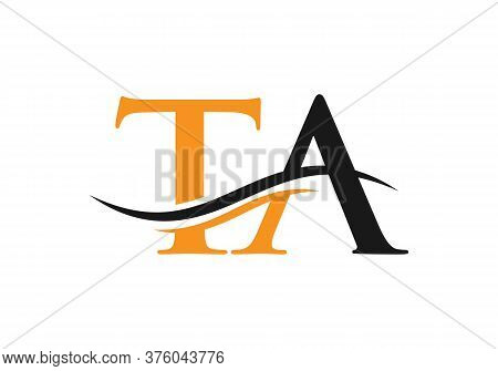 Initial Ta Letter Logo With Creative Modern Business Typography Vector Template.