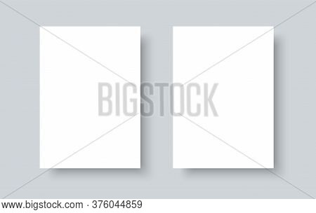 Blank White Paper Mock Up Realistic Vector Template Isolated