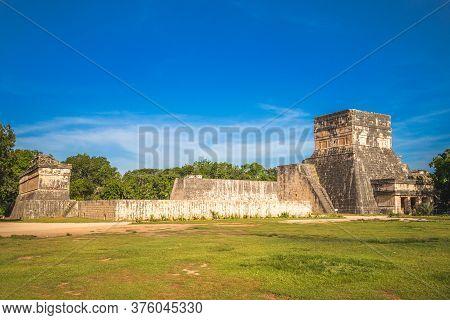 Grand Ballcourt From El Castillo, Chichen Itza, Mexico