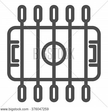 Table Football Line Icon, Amusement Park Concept, Foosball Sign On White Background, Table Soccer Ic