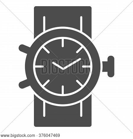 Mechanical Watch Solid Icon, Shopping Concept, Clock Sign On White Background, Wrist Watch Icon In G