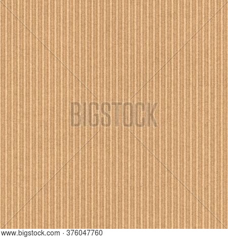 Corrugated cardboard texture. Blank empty cardboard with ridges. Recycled material background. Seamless tiled texture.