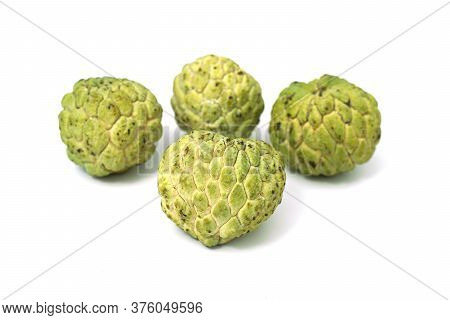 Fresh From Nature Organic Sugar Apple Isolated On White.