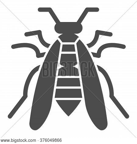 Bee Solid Icon, Insects Concept, Wasp Sign On White Background, Honeybee Icon In Glyph Style For Mob