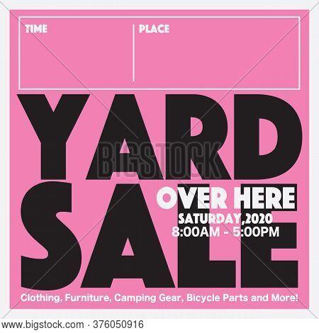 50 Percent Yard Sale Campaign Promotion Sale Banner, Drive Sales Concept Vector Illustration. Eps 10