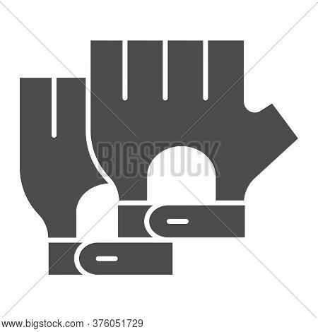 Cyclist Gloves Solid Icon, Bicycle Accessories Concept, Fitness Gloves Sign On White Background, Glo