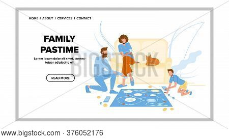 Family Pastime And Enjoyment Board Game Vector