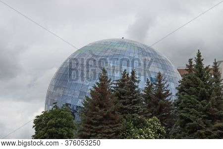 The World Ocean Museum In The Form Of A Sphere, In The City Of Kaliningrad, Russia. Photographed On