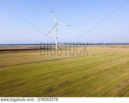 Windmill Power Plant, Clean Natural Energy, Ecological Energy.
