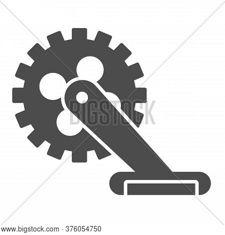 Gear With Pedal Solid Icon, Bicycle Concept, Bicycle Crank Sign On White Background, Bicycle Pedal I