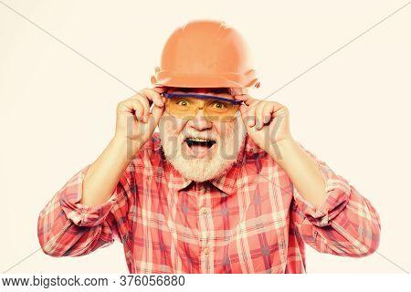 Plumber Service. Experienced Engineer. Repairing Or Renovating. Home Improvement. Man Bearded Engine