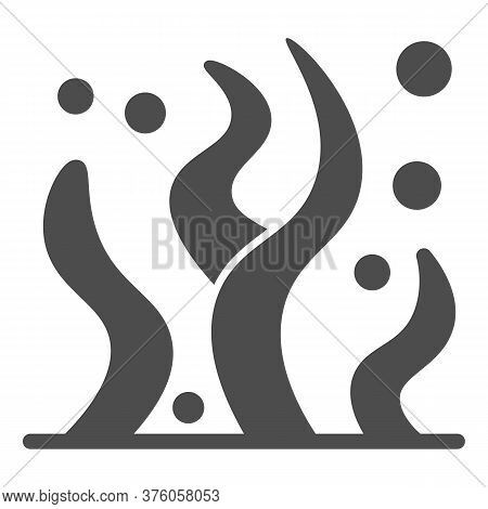 Seaweed Solid Icon, Ocean And Underwater Concept, Sea Algae Sign On White Background, Sea Weed Icon