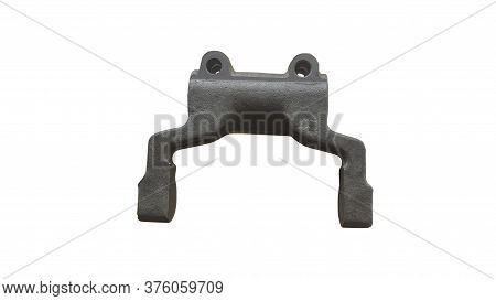 Shift Fork Mechanical Gearbox Car Isolated On White Background. Spare Parts.