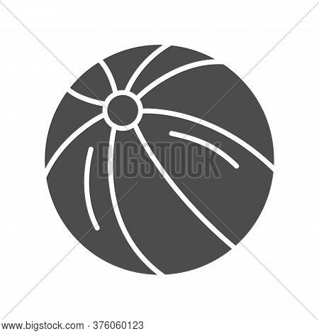 Ball Solid Icon, Kids Toys Concept, Beachball Sign On White Background, Children Striped Ball Icon I