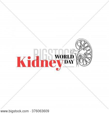 Vector Illustration On The Theme Of World Kidney Day. March 11 In 2021.