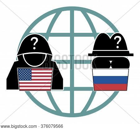 American Versus Russian Hackers. Usa And Russia In Competition On Spying Political And Economic Secr