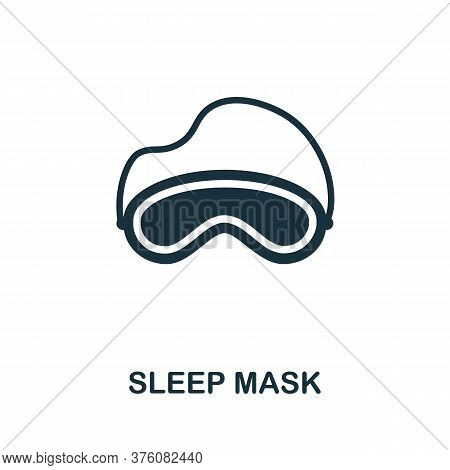 Sleep Mask Icon. Simple Element From Well Sleep Collection. Creative Sleep Mask Icon For Web Design,