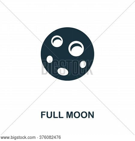 Full Moon Icon. Simple Element From Well Sleep Collection. Creative Full Moon Icon For Web Design, T