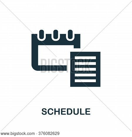 Schedule Icon. Simple Element From Well Sleep Collection. Creative Schedule Icon For Web Design, Tem