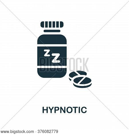 Hypnotic Icon. Simple Element From Well Sleep Collection. Creative Hypnotic Icon For Web Design, Tem