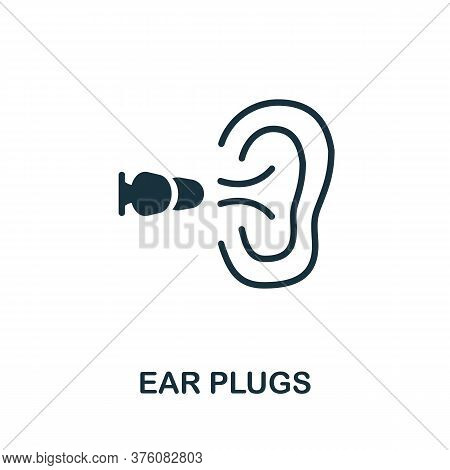 Ear Plugs Icon. Simple Element From Well Sleep Collection. Creative Ear Plugs Icon For Web Design, T