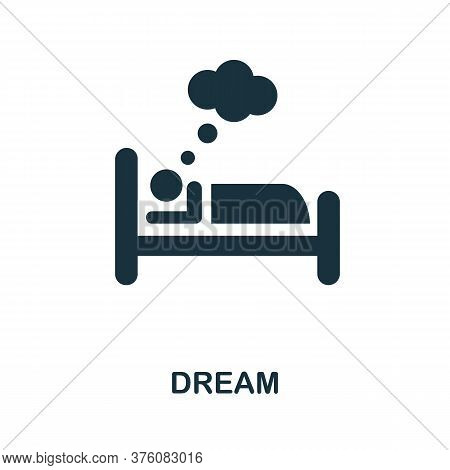 Dream Icon. Simple Element From Well Sleep Collection. Creative Dream Icon For Web Design, Templates