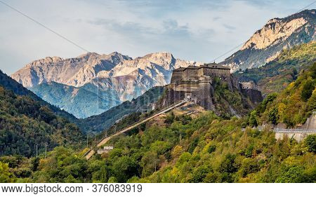 Castles And Landscapes Near The Little Town Ruinas In Piemonte, Italy, Europe
