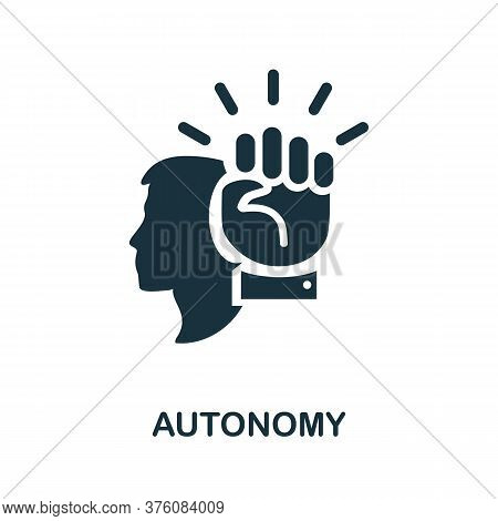 Autonomy Icon. Simple Element From Business Management Collection. Creative Autonomy Icon For Web De