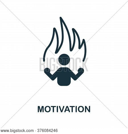 Motivation Icon. Simple Element From Business Management Collection. Creative Motivation Icon For We