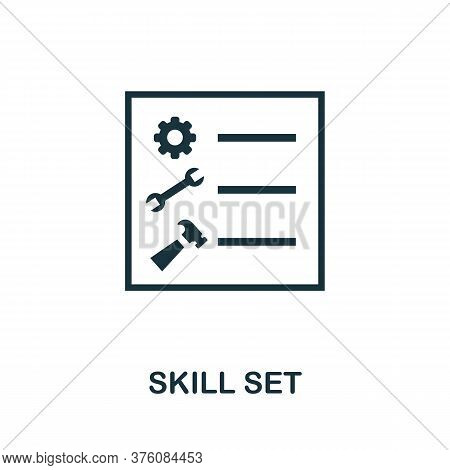 Skill Set Icon. Simple Element From Business Management Collection. Creative Skill Set Icon For Web
