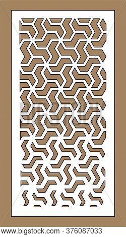 Laser Cutting Vector Panel Template. Cnc Decor Pattern, Jali Design, Interior Partition. Islamic, Ar