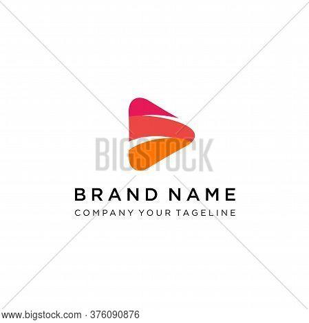 Media Play Letter S Logo Design, Thunder Flash + Media Player Logo Template, Modern Play Button Logo