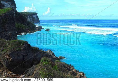 Uluwatu Bali View With Beach And Rocks