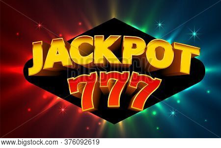 Jackpot casino big win collage banner.Vector illustration Stock Vector | Adobe Stock