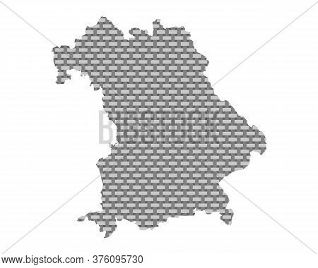 Detailed And Accurate Illustration Of Map Of Bavaria Coarse Meshed