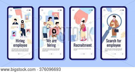 The Concept Of Recruitment And Hiring Of Employee. Recruiting Service, Bounty Hunters, Building A Ca