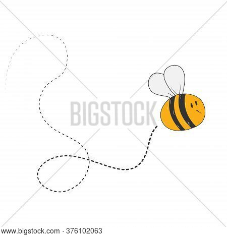 Honeybee. Simple Vector Icon For Theme Design Isolated On White Background