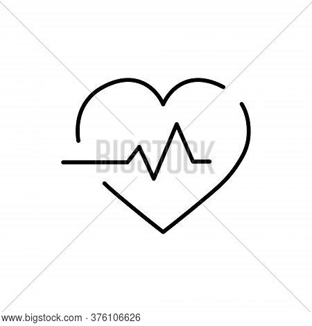 Medical Symbol, Heat With Pulse, Ecg Icon.