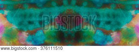 Neon Disco Tie Dye Print. Bleached Print. Dirty Art Style. Autumn Colors Artistic Mud Watercolor. Su