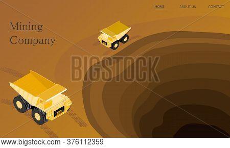 Mining Company, Isometric Geology, Dump Machine, Web Page