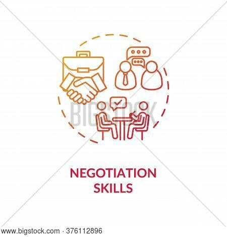 Negotiations Skills Concept Icon. Business Partnership. Successful Collaboration. Businessmen Commun