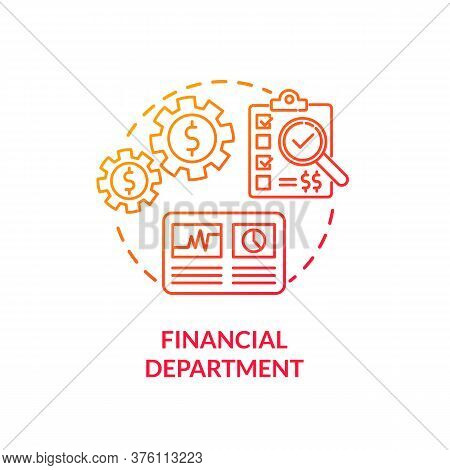 Financial Department Red Gradient Concept Icon. Commercial Plan For Company. Business Development. P