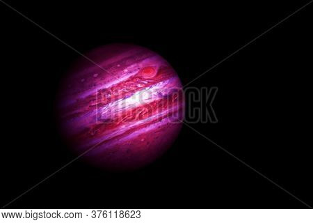 Jupiter In Unusual Colors. Elements Of This Image Were Furnished By Nasa.