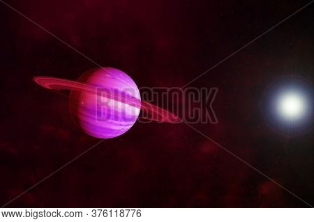 Saturn Planet In Unusual Colors. Elements Of This Image Were Furnished By Nasa.