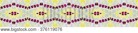 Spring Floral Border. Delicate Lace Motifs. Ogee Geo Border. Summer Seamless  Tile Japanese Geometri