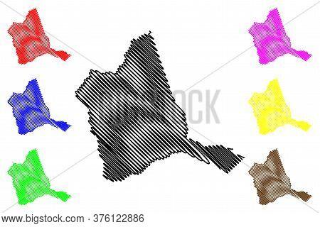 Warren County, Georgia (u.s. County, United States Of America, Usa, U.s., Us) Map Vector Illustratio