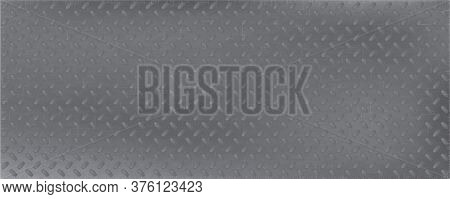 Metallic Background Carbon Plate Oval Bulges. Light Monochrome Seamless Backdrop Brutal Plate Modern