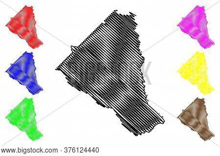 Wheeler County, Georgia (u.s. County, United States Of America, Usa, U.s., Us) Map Vector Illustrati