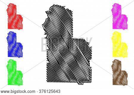 Worth County, Georgia (u.s. County, United States Of America, Usa, U.s., Us) Map Vector Illustration